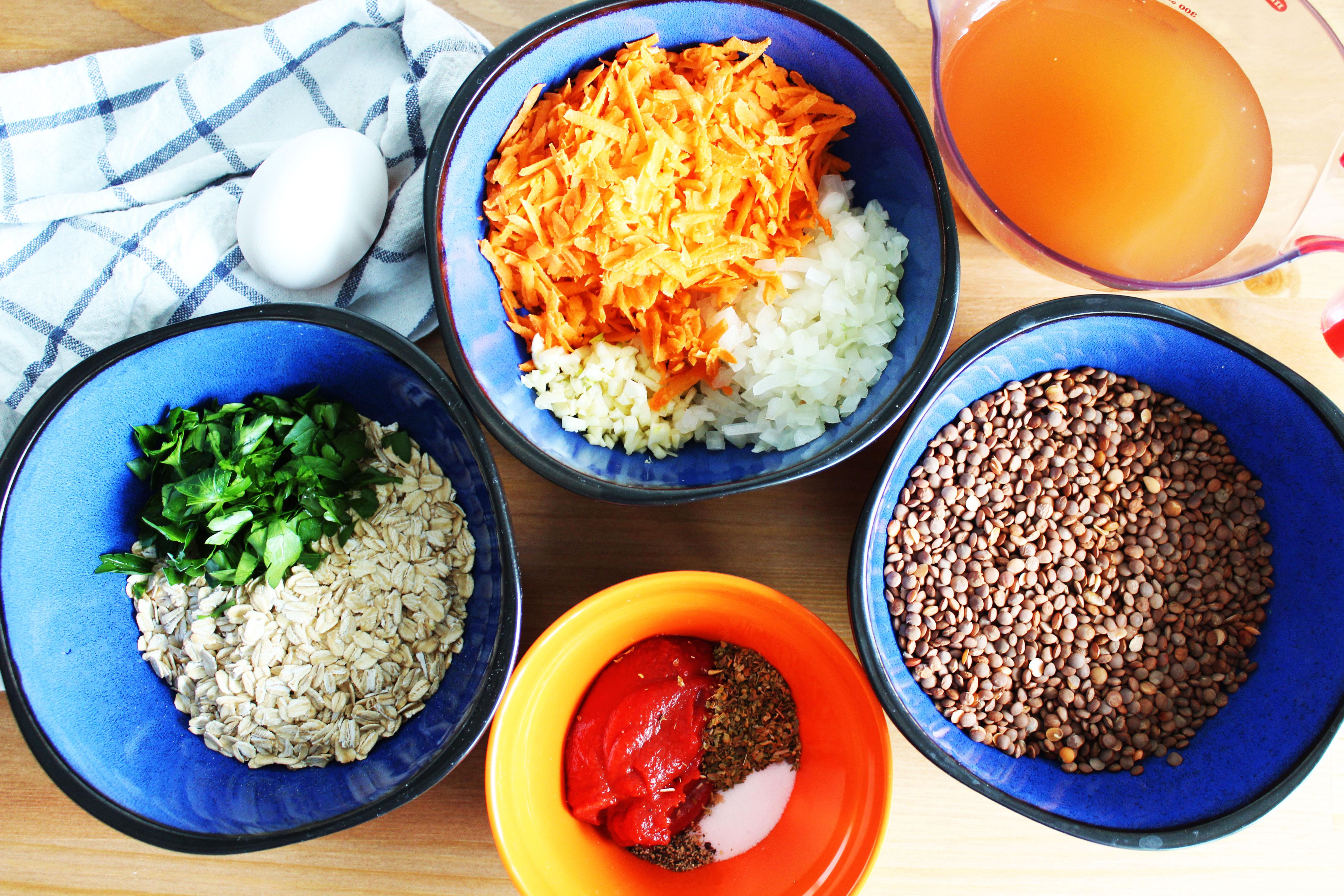 Lentil-Meatballs-Ingredients