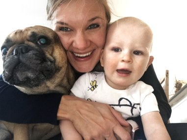 mom-with-son-and-dog